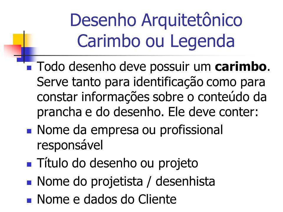 Desenho Arquitetônico Carimbo ou Legenda