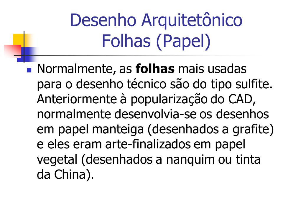 Desenho Arquitetônico Folhas (Papel)