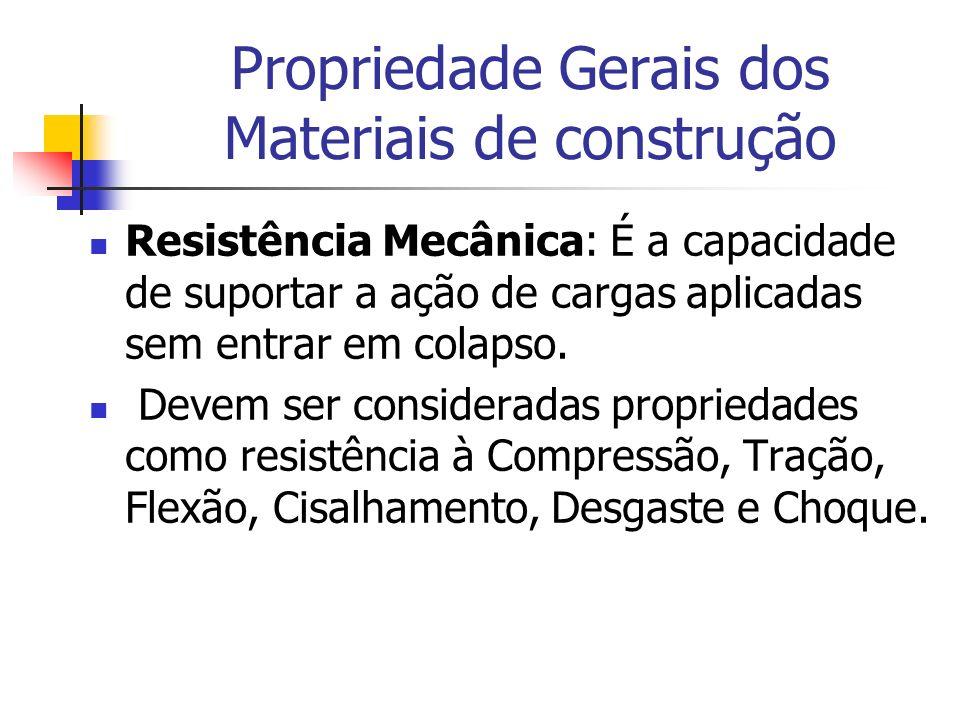 Propriedade Gerais dos Materiais de construção