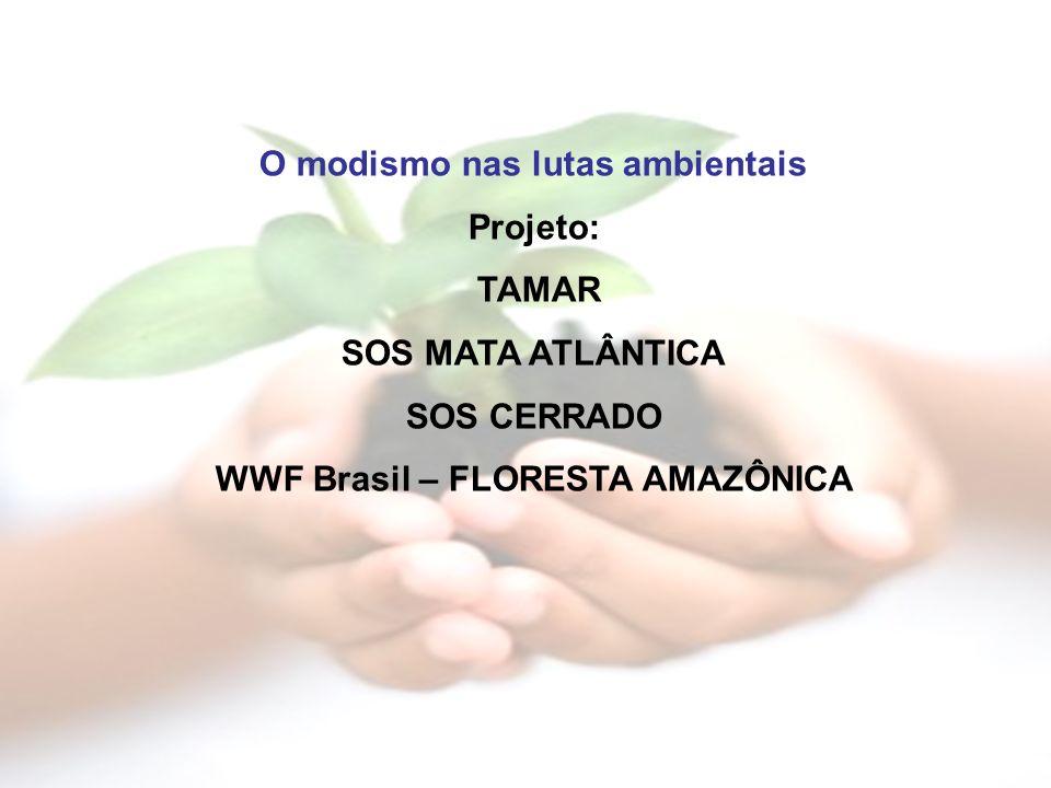 O modismo nas lutas ambientais WWF Brasil – FLORESTA AMAZÔNICA