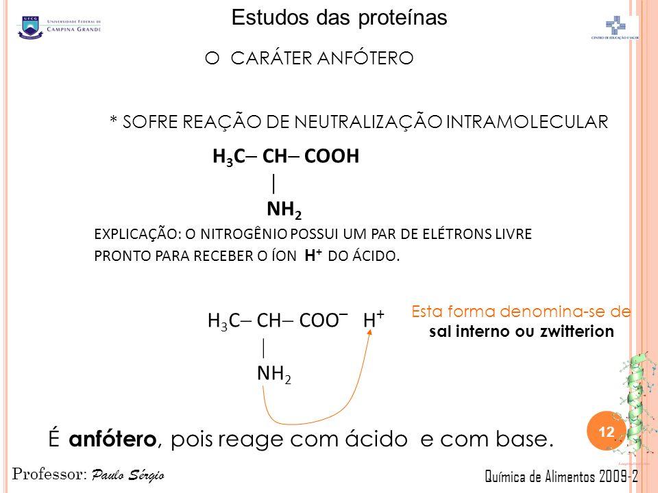 Esta forma denomina-se de sal interno ou zwitterion
