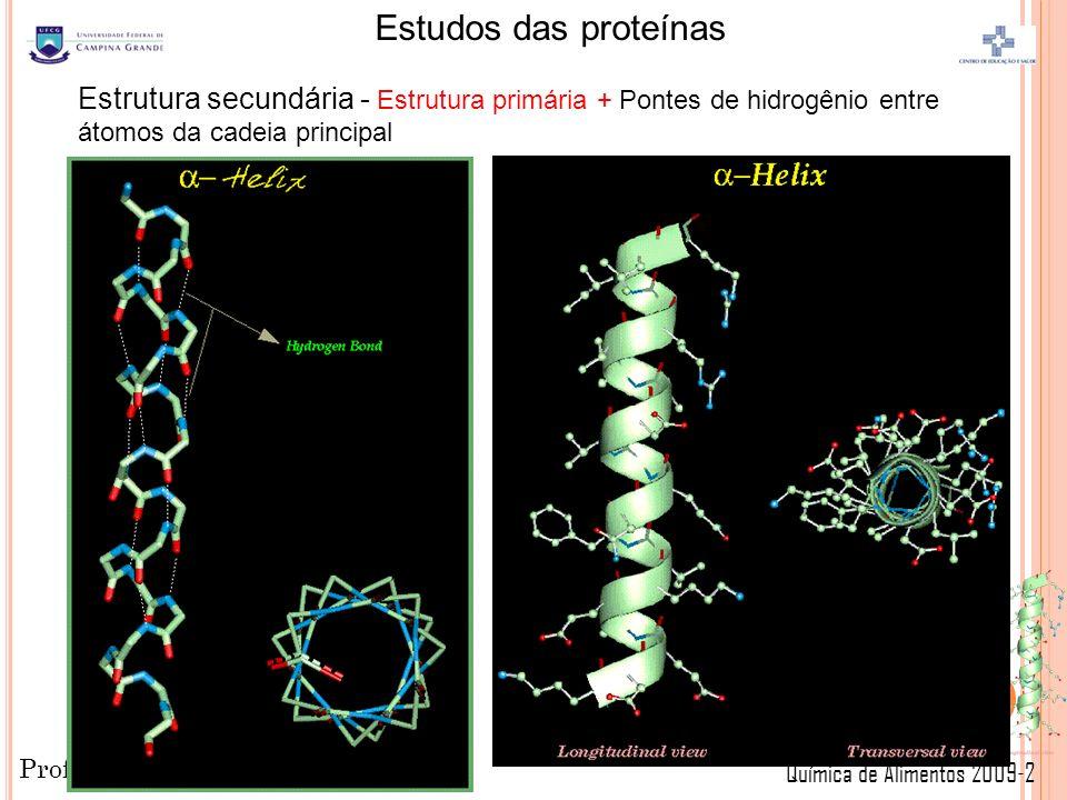 Estrutura secundária - Estrutura primária + Pontes de hidrogênio entre átomos da cadeia principal
