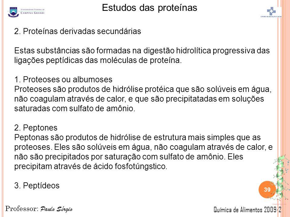 2. Proteínas derivadas secundárias