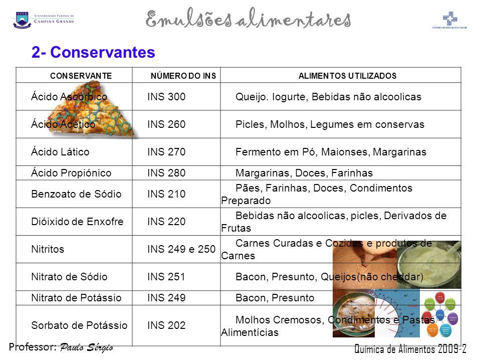 2- Conservantes Ácido Ascórbico INS 300
