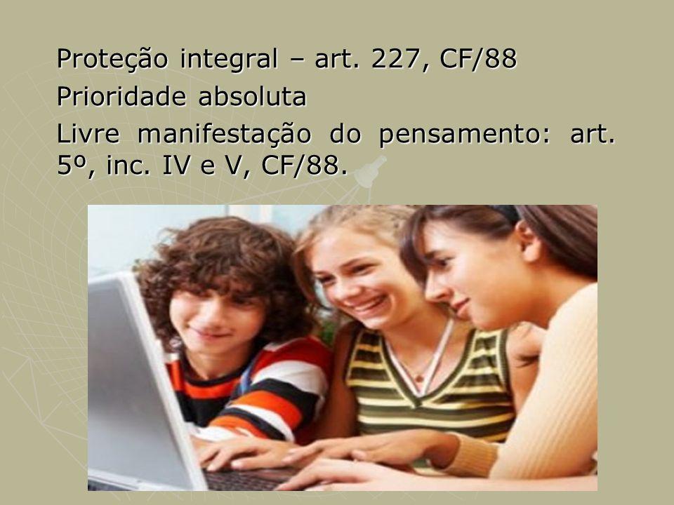 Proteção integral – art. 227, CF/88 Prioridade absoluta