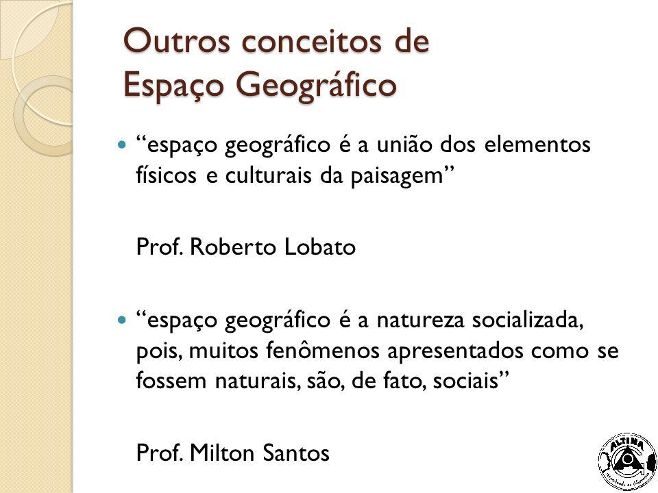 Outros conceitos de Espaço Geográfico