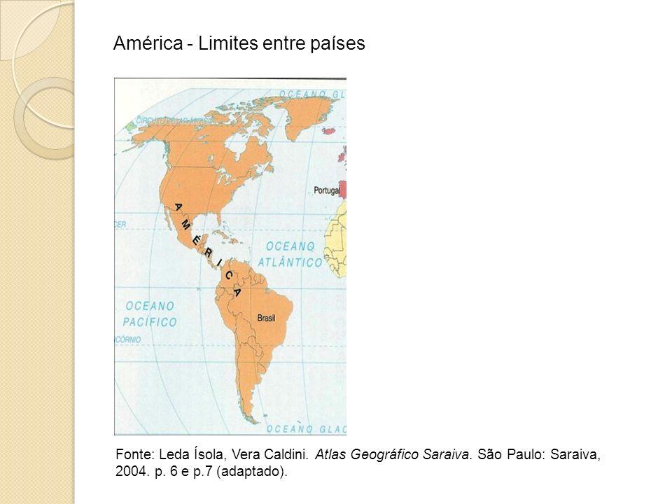 América - Limites entre países