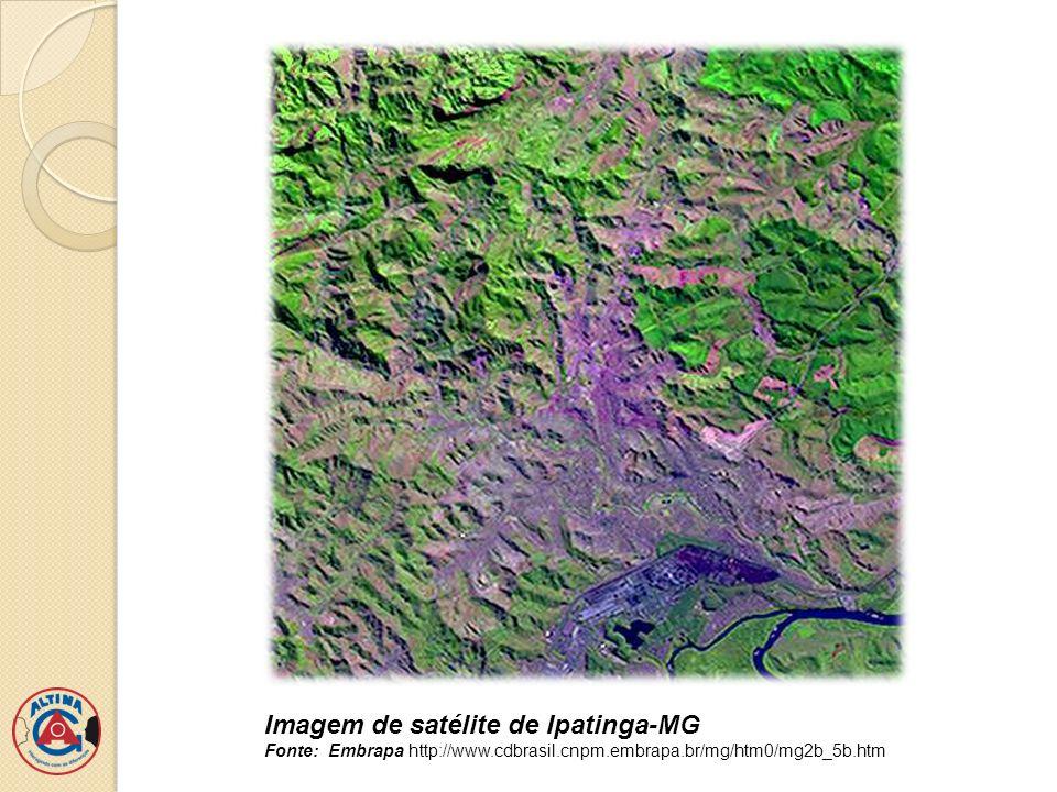 Imagem de satélite de Ipatinga-MG