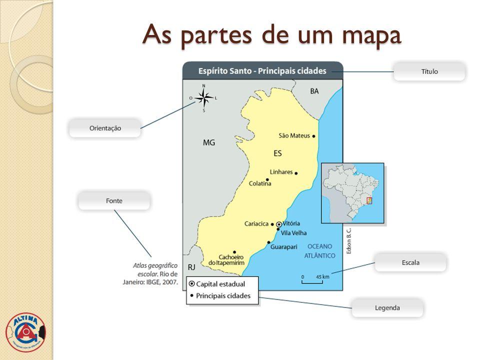 As partes de um mapa