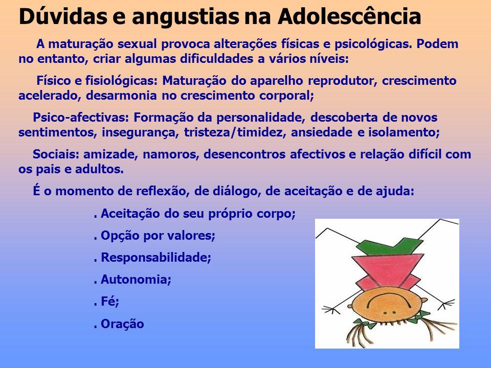 Dúvidas e angustias na Adolescência