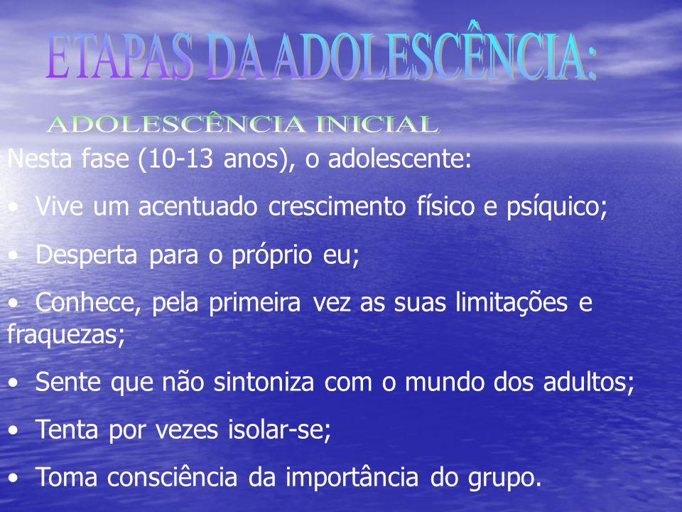 ETAPAS DA ADOLESCÊNCIA:
