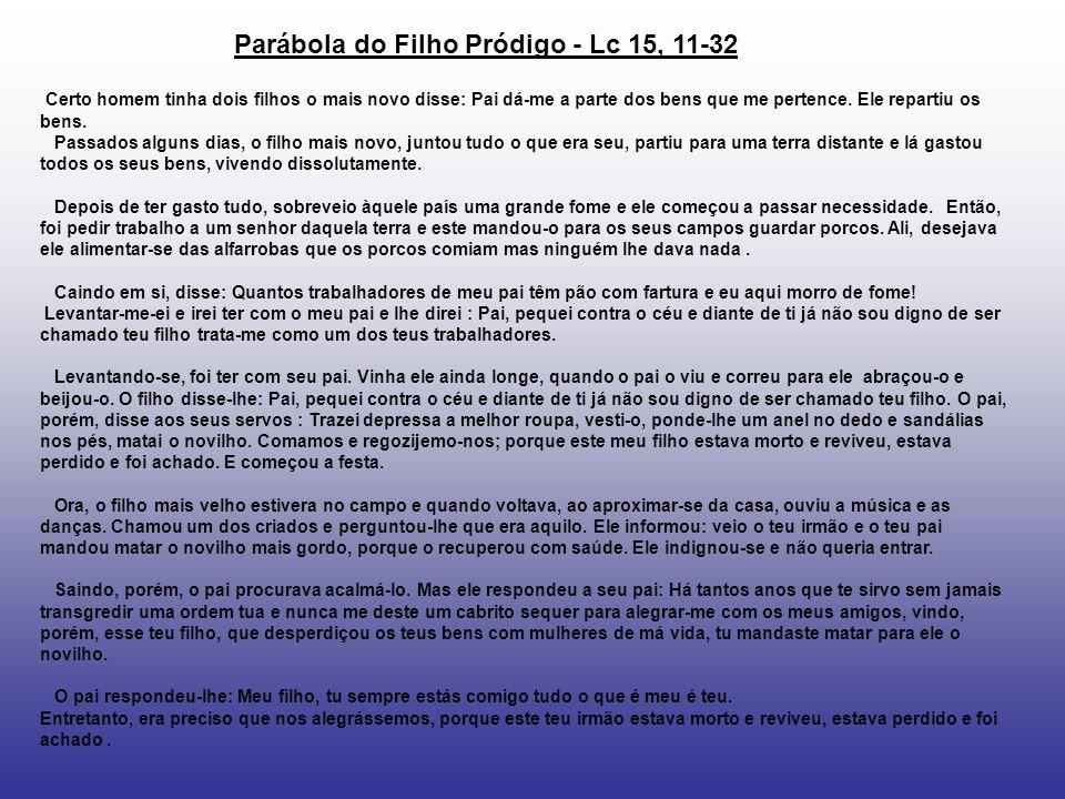 Parábola do Filho Pródigo - Lc 15, 11-32