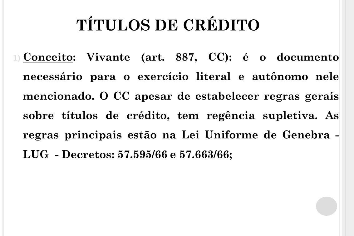 TÍTULOS DE CRÉDITO
