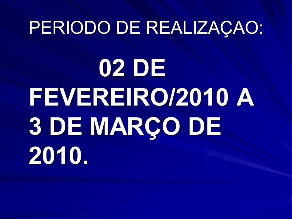 PERIODO DE REALIZAÇAO: