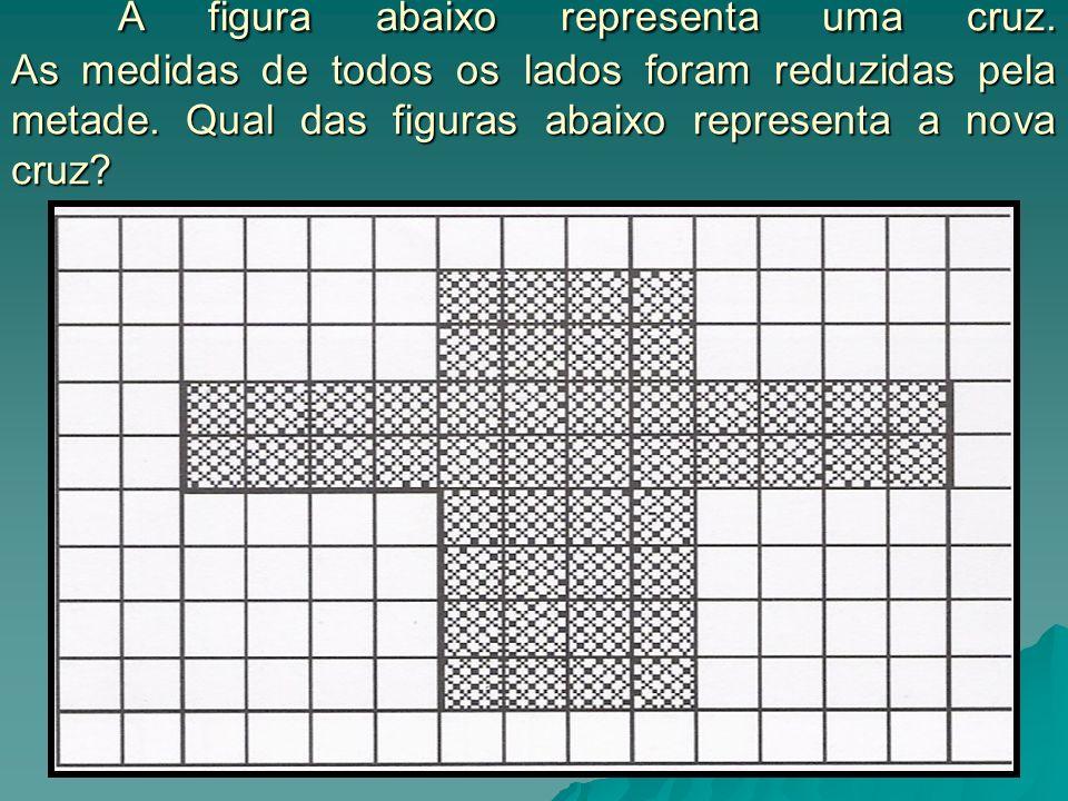 A figura abaixo representa uma cruz