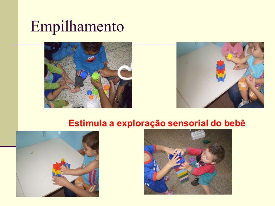 Estimula a exploração sensorial do bebê
