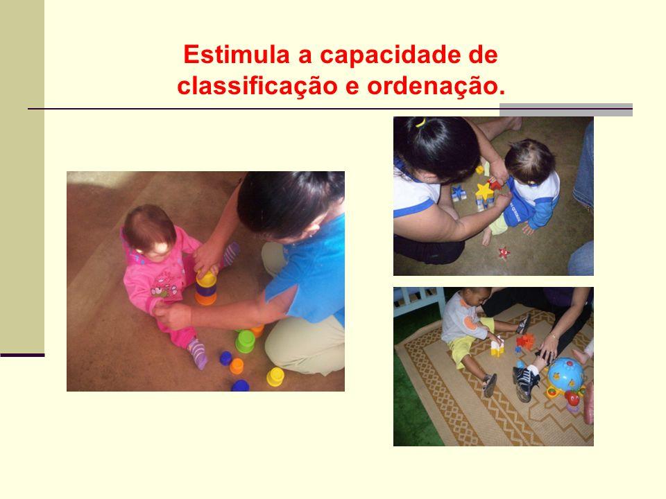 Estimula a capacidade de classificação e ordenação.