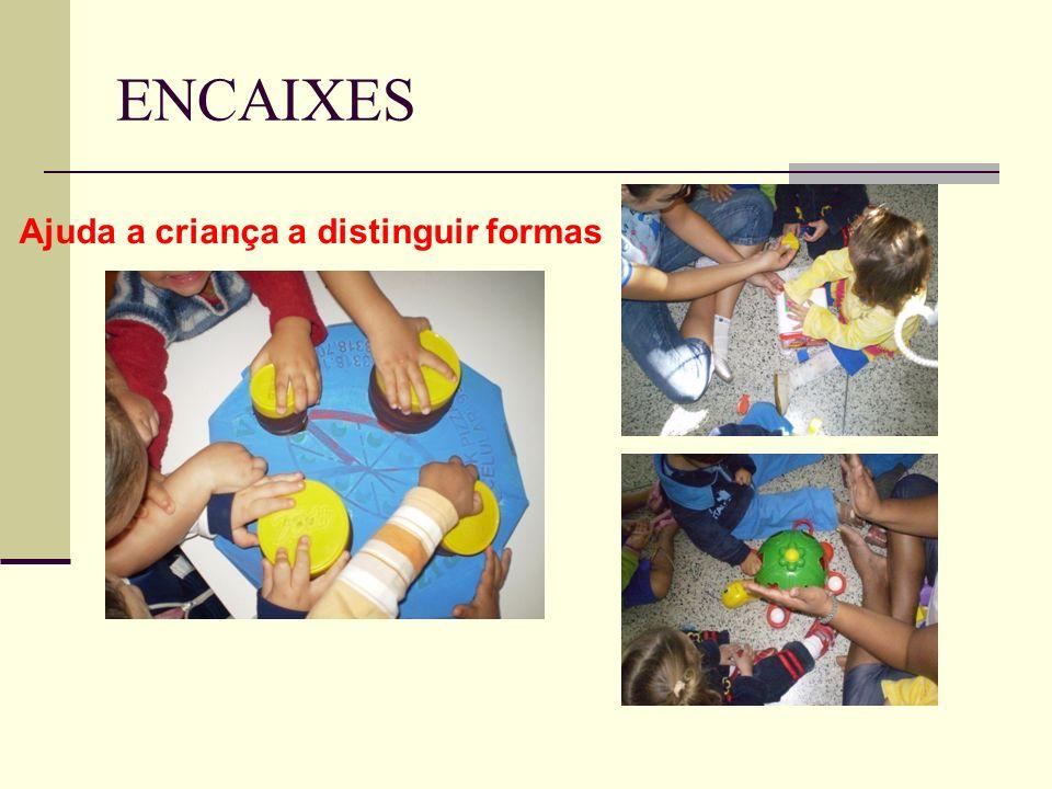 Ajuda a criança a distinguir formas