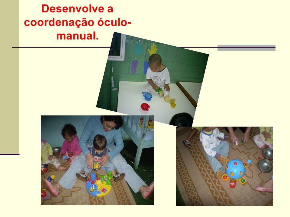 Desenvolve a coordenação óculo- manual.