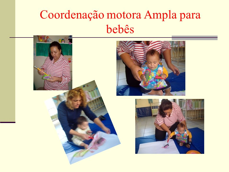 Coordenação motora Ampla para bebês