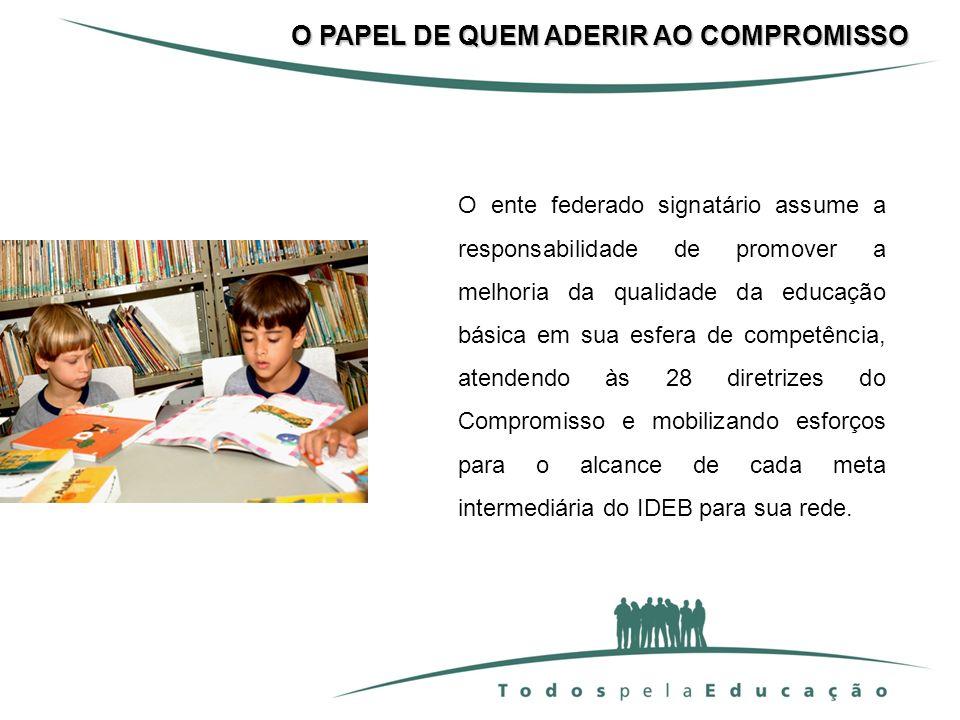 O PAPEL DE QUEM ADERIR AO COMPROMISSO