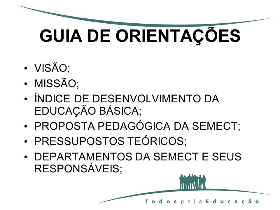 GUIA DE ORIENTAÇÕES VISÃO; MISSÃO;