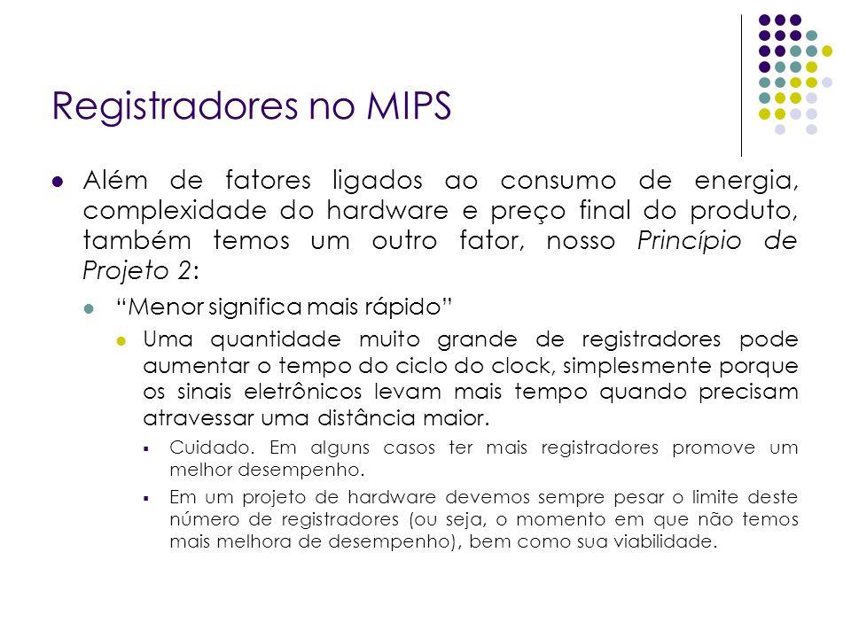 Registradores no MIPS