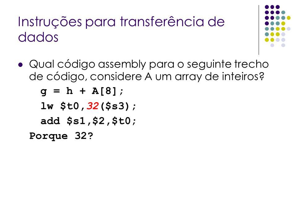 Instruções para transferência de dados