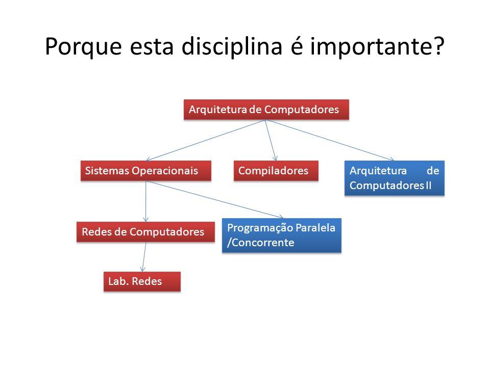 Porque esta disciplina é importante