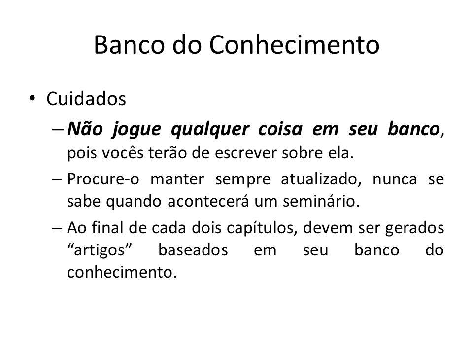 Banco do Conhecimento Cuidados