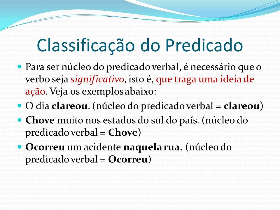 Classificação do Predicado