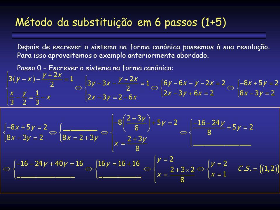 Método da substituição em 6 passos (1+5)