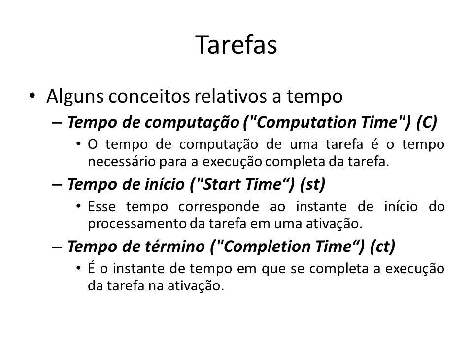 Tarefas Alguns conceitos relativos a tempo