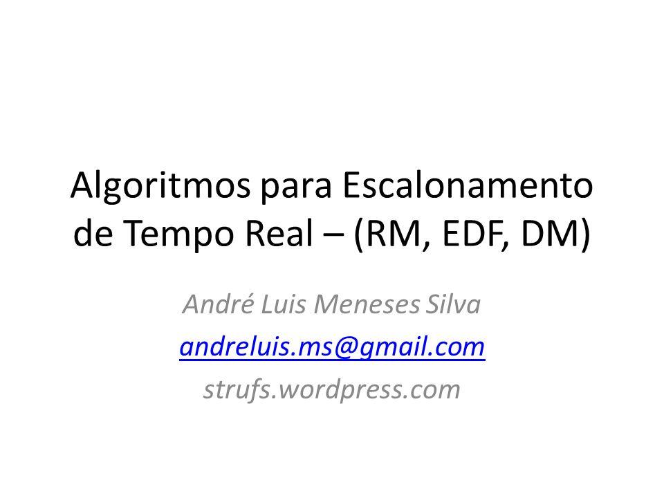 Algoritmos para Escalonamento de Tempo Real – (RM, EDF, DM)