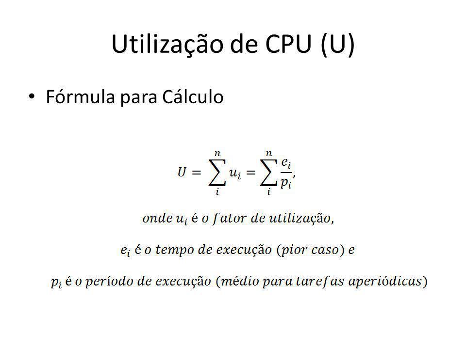 Utilização de CPU (U) Fórmula para Cálculo