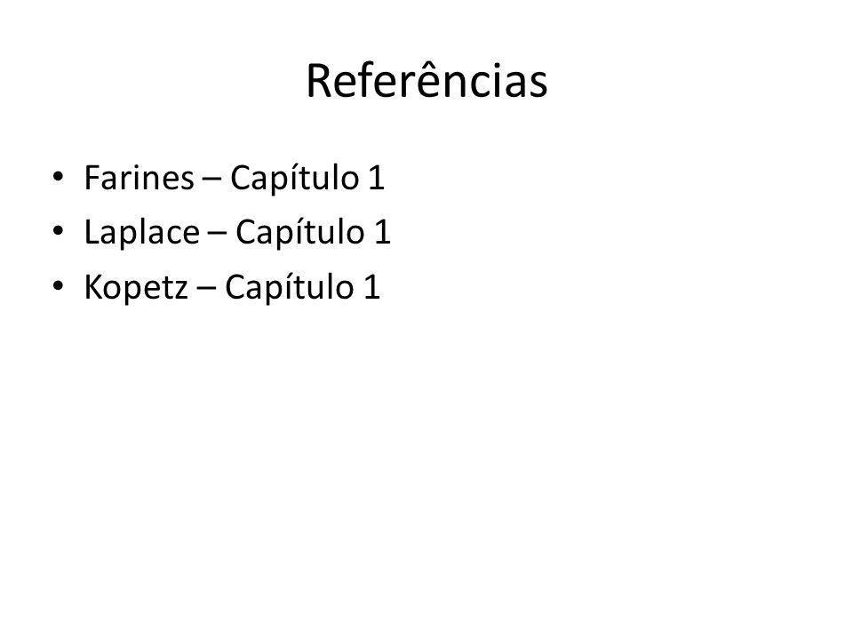 Referências Farines – Capítulo 1 Laplace – Capítulo 1