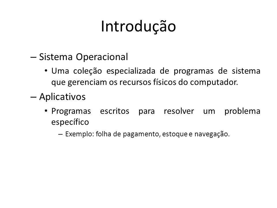 Introdução Sistema Operacional Aplicativos