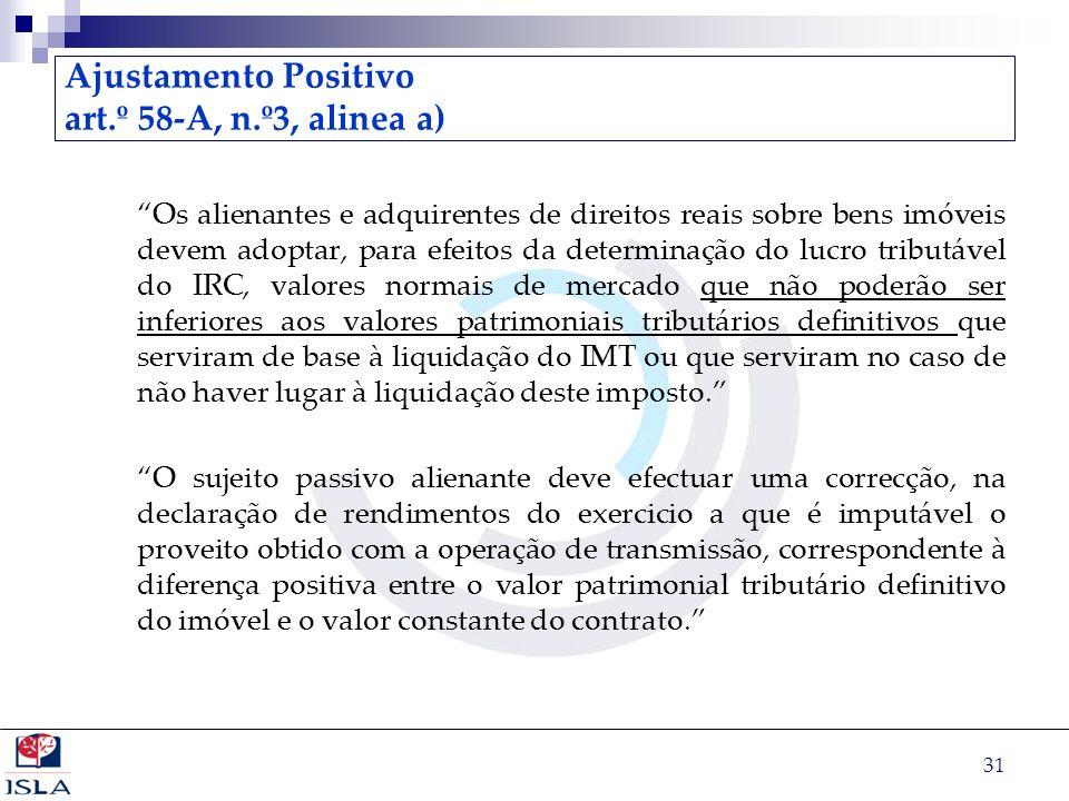 Ajustamento Positivo art.º 58-A, n.º3, alinea a)
