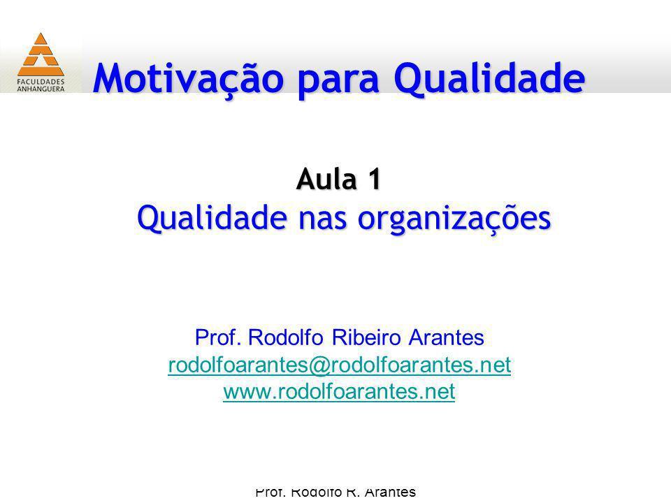 Aula 1 Qualidade nas organizações