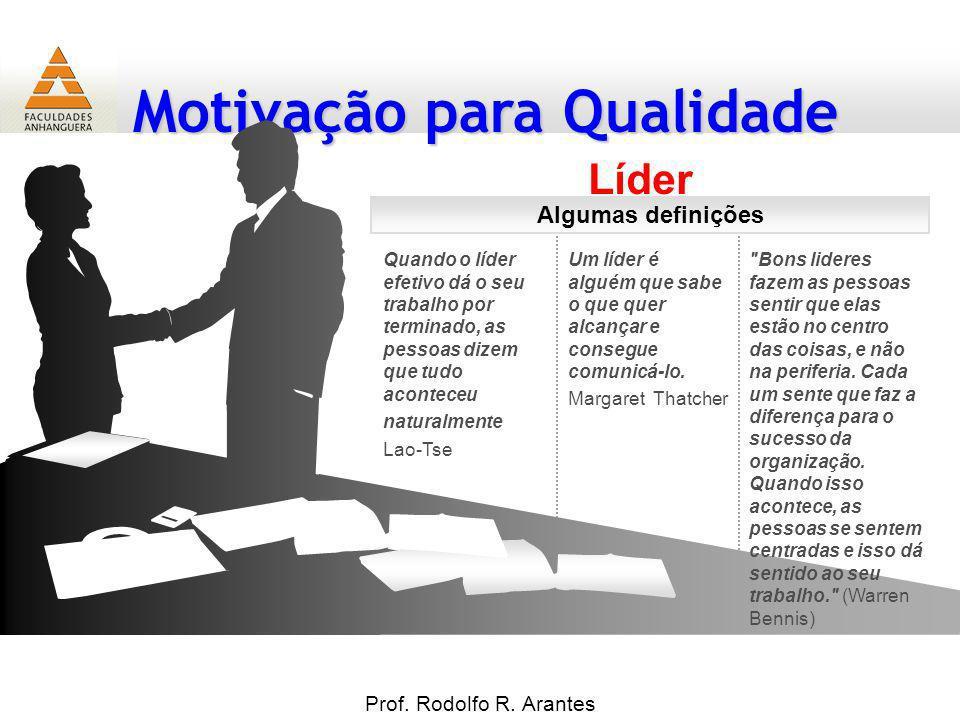 Líder Algumas definições Prof. Rodolfo R. Arantes