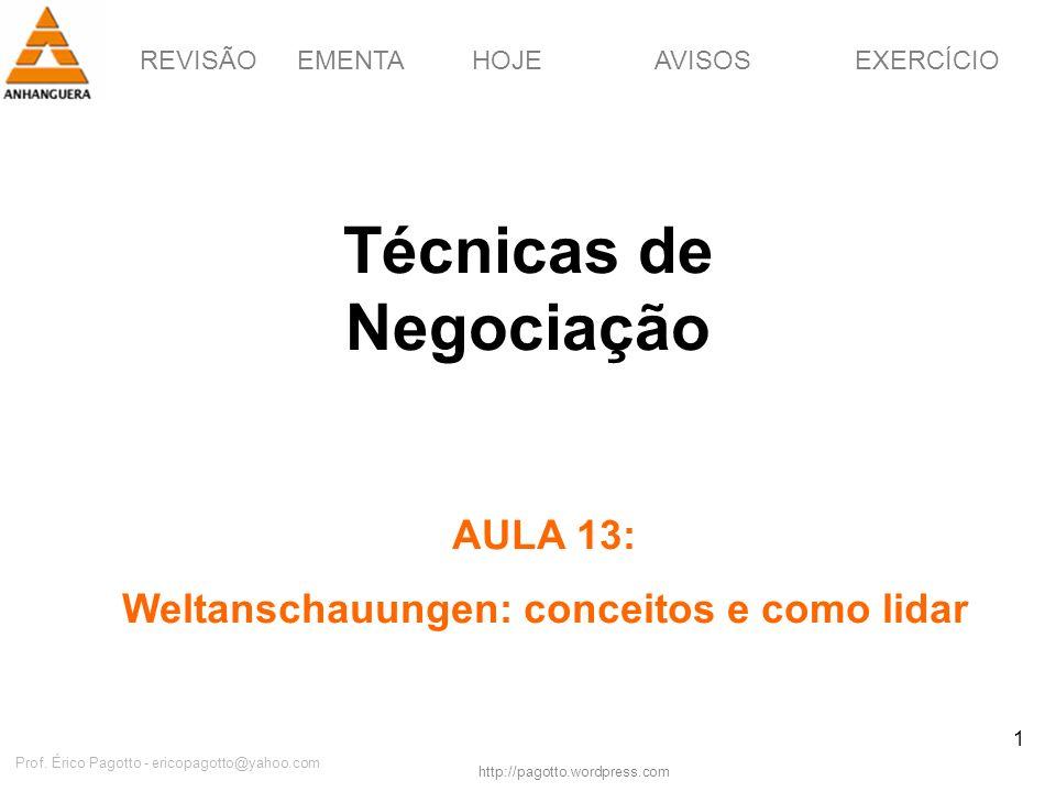 Técnicas de Negociação Weltanschauungen: conceitos e como lidar