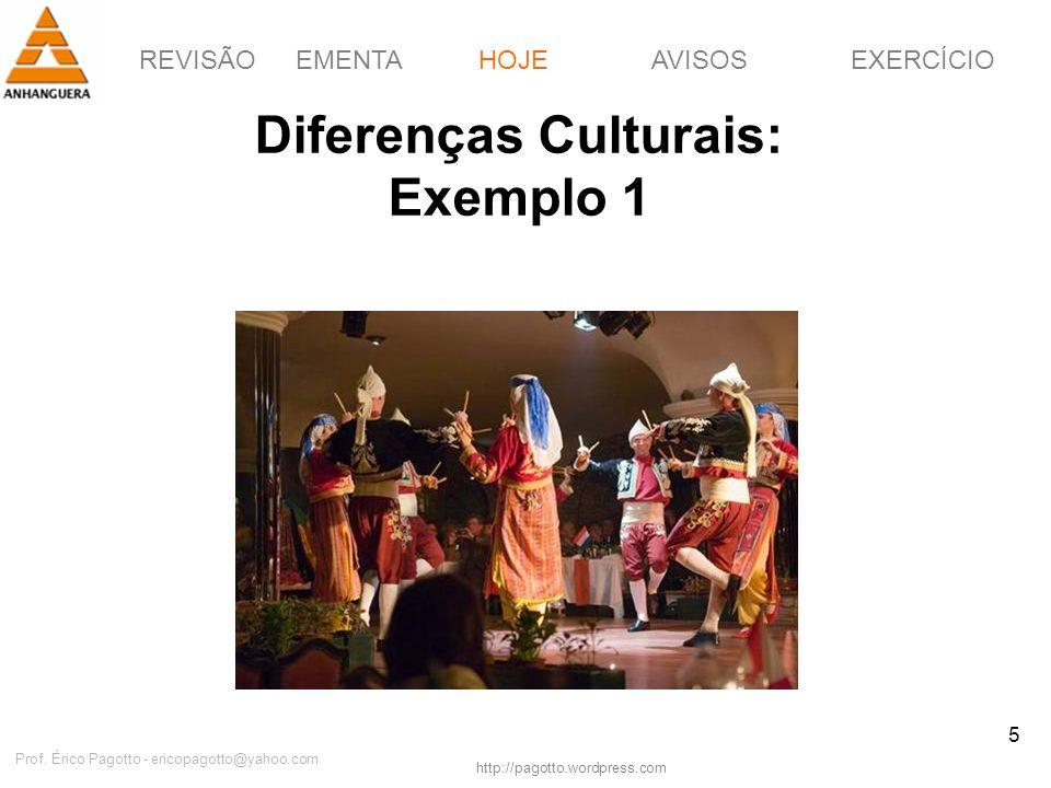 Diferenças Culturais: Exemplo 1