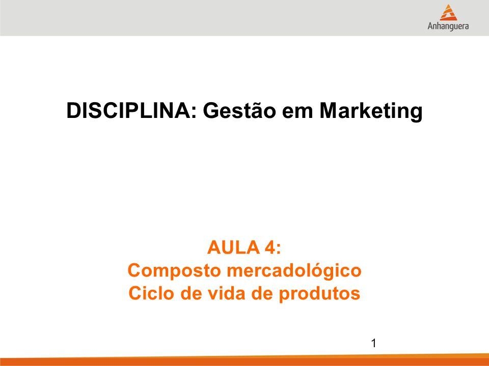 DISCIPLINA: Gestão em Marketing