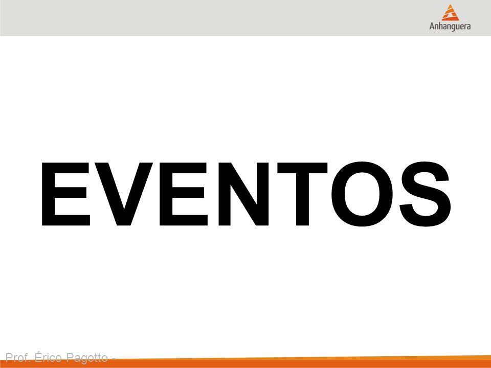 EVENTOS Prof. Érico Pagotto - ericopagotto@yahoo.com