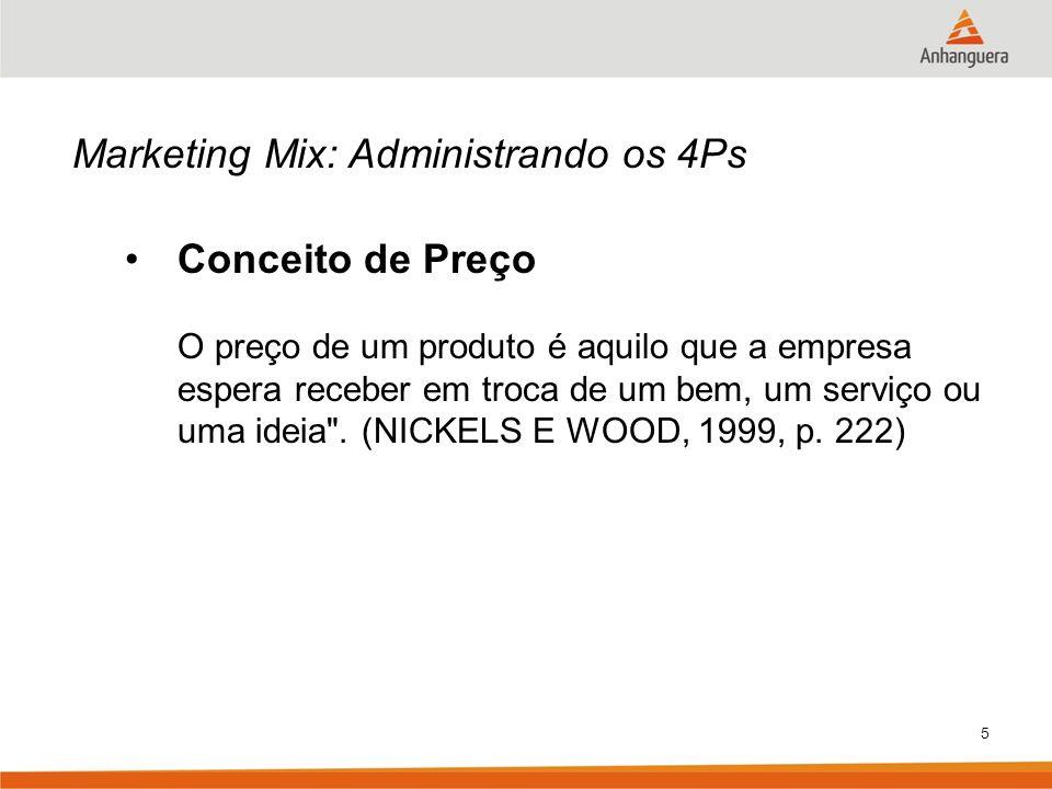 Marketing Mix: Administrando os 4Ps Conceito de Preço