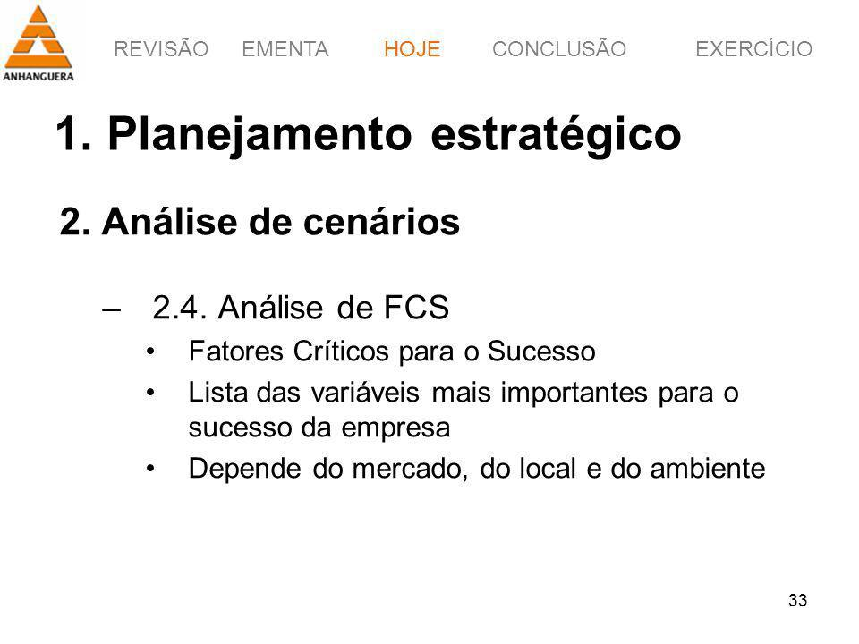 1. Planejamento estratégico