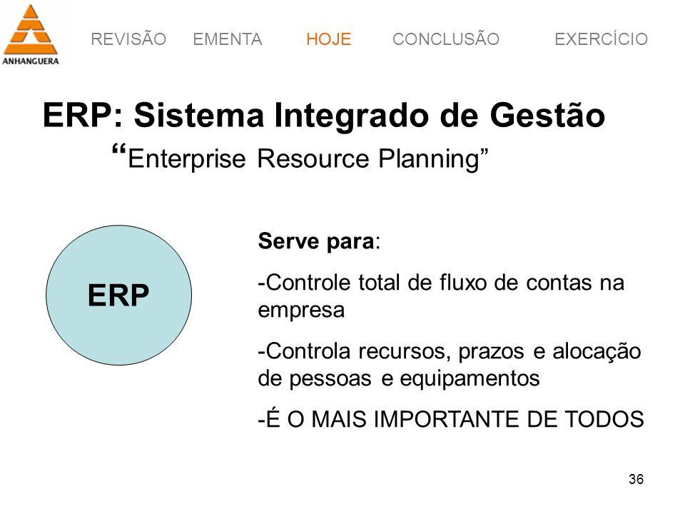 ERP: Sistema Integrado de Gestão Enterprise Resource Planning