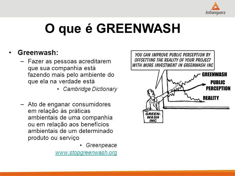 O que é GREENWASH Greenwash:
