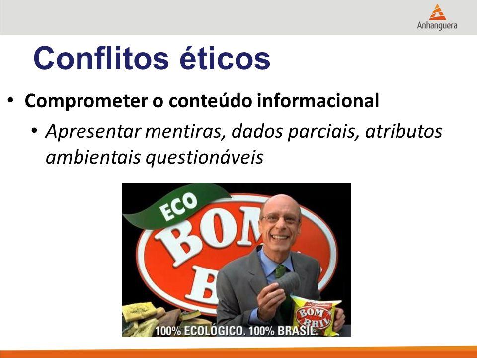 Conflitos éticos Comprometer o conteúdo informacional