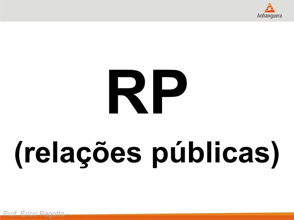 RP (relações públicas) Prof. Érico Pagotto - ericopagotto@yahoo.com
